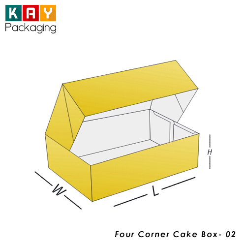 Custom Four Corner Cake Box | wholesale Four Corner Cake Box