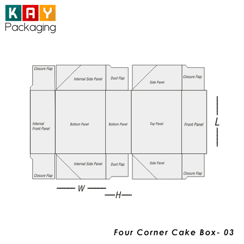 Custom four corner cake box wholesale four corner cake box free shipping pronofoot35fo Images