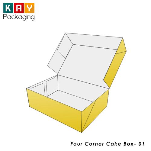 Custom Four Corner Cake Box